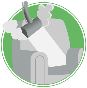 upholstery cleaning icon green